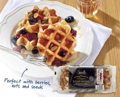 Belgian Sugar Waffles Scanning half price 49p @  Aldi