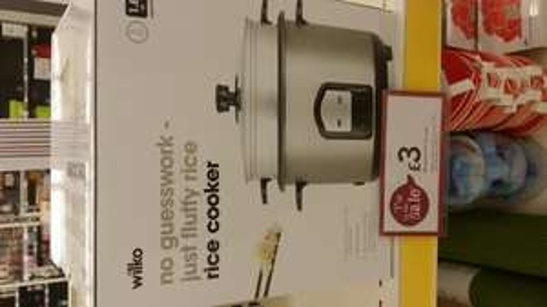 Wilkinson's rice cooker - £3 instore