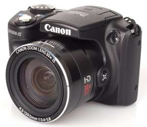 Canon PowerShot SX500 IS 16MP 30x Optical Zoom - Compact Camera - Black (Refurbished) - Canon Ebay - £102.94