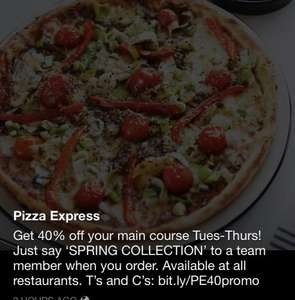 40% off at Pizza Express