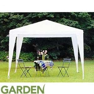 White Garden Gazebo £16.99 @ Home Bargains Free Click & Collect