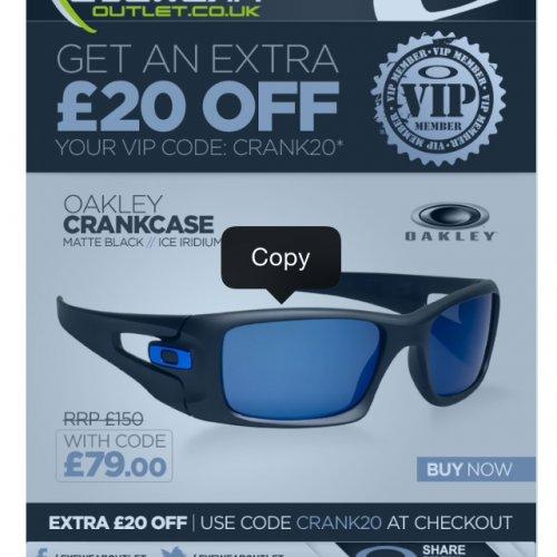 Good price for polarized lenses £79 @ eyewearoutlet