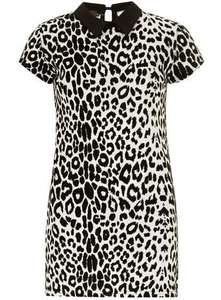 White Flock Print Dress £1.70 Delivered (Was £28) @ Dorothy Perkins