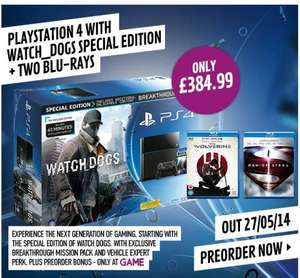 Get a PlayStation 4 with Watch Dogs for only £249.99 when you Trade-In! @ Game