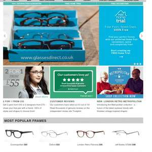 Prescription Glasses / Sunglasses 2 pair for £25.00 @ Glasses Direct
