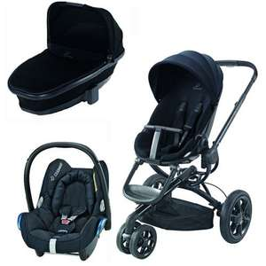 Quinny Moodd Bundle - Complete with Carrycot, Car Seat, Baby Nest, Raincover, Basket & Parasol Clip £559 @ Precious Little One
