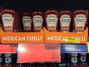 Heinz Mexican Chilli Tomato Ketchup 250g B&M Bargains 3 for £1.00 or 39p each