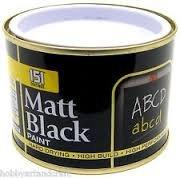 Black Matt Paint for Blackboards £1.00 @ Poundworld