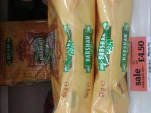 5kg bag of Badshah Basmati Rice £4.50 @ Sainsburys