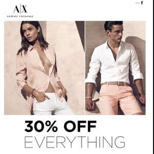 30% off at Armani Exchange