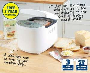 Bread Maker with 3 year warranty from 25th May £29.99 at Aldi