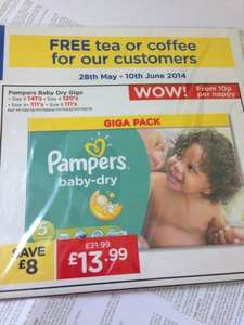 Pampers Nappies Giga Box! Various sizes £13.99 @ Makro