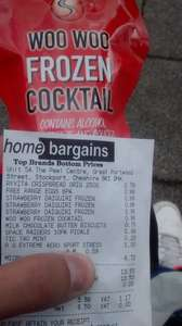 Frozen cocktails 250ml @ homebargains