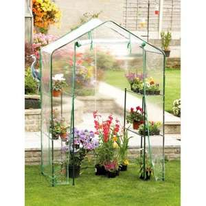 Walk In Greenhouse with PVC Zipped Cover Now Only £14.99 @ Poundstretcher Instore or Online + Del