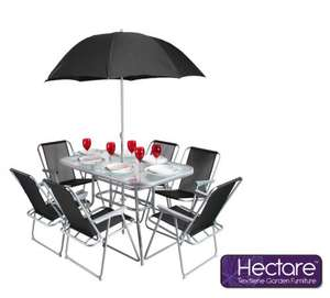Hectare mallory 6 seater textilene garden furniture with parasol hectare mallory 6 seater textilene garden furniture with parasol 9999 from primrose workwithnaturefo