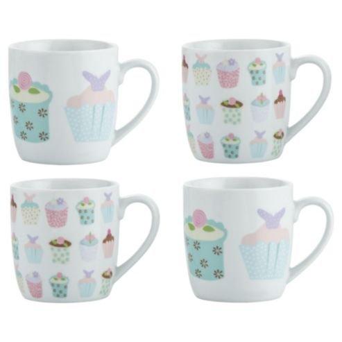 Tesco Cupcake Mugs Porcelain, 4 Set was £6.00 now £3.00 @ Tesco Direct