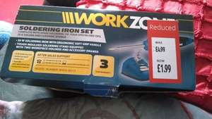 Workzone soldering iron set £1.99 Aldi