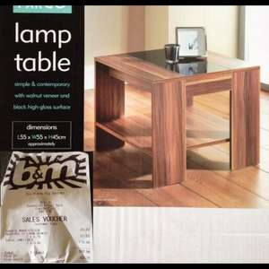 £9.99 Fargo Lamp Table - should be £29.99 at B&M Bargains