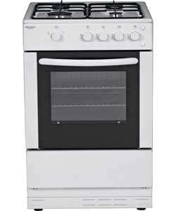 Bush AG66SW Single 60CM Gas Cooker - White £186.99 @ HOMEBASE DELIVERED