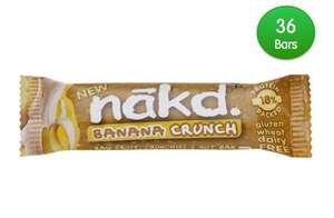 Short Dated NAKD Banana Crunch 36 Bars for £8 (about 22p each) @ Natural Balance foods with code
