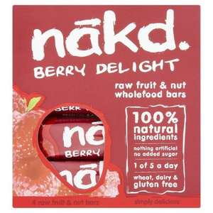 NAKD BARS 4 FOR £1 @ POUNDWORLD