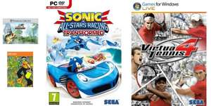 Sonic All Star Racing Transformed, Virtua Tennis 4, Jet Set Radio & SEGA Bass Fishing Bundle (Steam) £2.90 @ Amazon.com