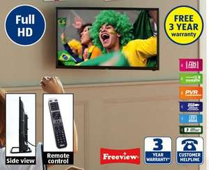 "Extra Slim 32"" Full HD LED TV with 3 year Warranty £169.99 @ Aldi from Sunday 1st June"