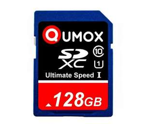 QUMOX 128GB SDXC memory card class 10 UHS-I read/write 80/60 MB/sec £32.90 Sold by Sunwood-UK and Fulfilled by Amazon