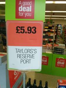 Taylors Select Reserve Port 75Cl £5.93 at Coop.
