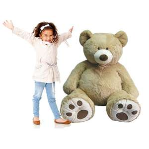 Hugfun 53 inch (134cm) Plush Sitting Bear - Blonde or Espresso (3+ Years) £29.89 Delivered @ Costco