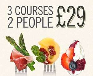 Browns Bar & Brasserie, 3 course meal for 2 £29