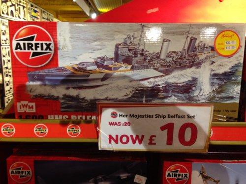 her majesties ship belfast set  In Hamleys London store. Was £20 now £10