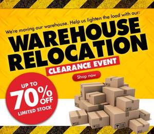 Warehouse relocation clearance event @ Cotton Traders upto 70% off