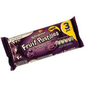 Rowntrees Fruit Pastilles Blackcurrant 3 pack (3 x 52.5g) ONLY 65p @ Heron Foods