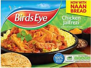 Birds Eye Chicken Jalfrezi with Rice & Naan / Chicken Korma with Rice & Naan (408g) ONLY £1.00 each @ Heron Foods