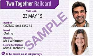 Railcards for £27 (16-25, Two Together, Family & Friends, and Senior)