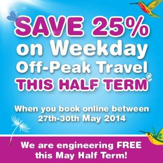 C2C Rail HAlf Term Off Peak Discount - 25% off