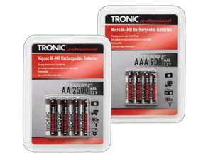 TRONIC Ni-MH Rechargeable Battery Assortment instore at Lidl from 5th June - £2.99