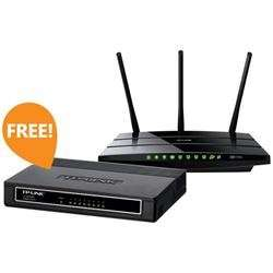 TP LINK ARCHER C7 & TL-SG1008D (Wireless AC Router & 8 port Gigabit Switch) Bundle @ Dabs - £92.98