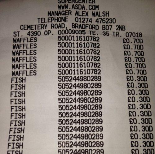 birds eye waffles 18 pack  only 70p @ Asda