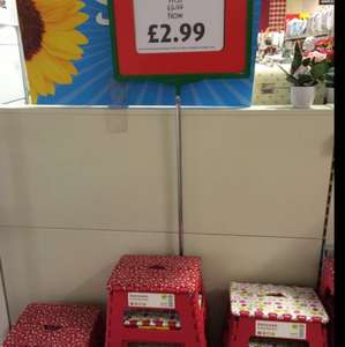 FOLDING STEP STOOL - £2.99 instore @ Dunelm