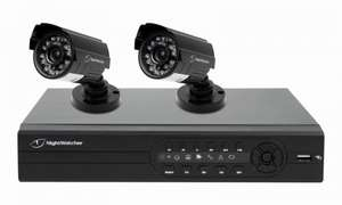 Nightwatcher DIY 500GB 4 Channel Full D1 2 Camera 700TVL CCTV Kit - £99.99 - eBuyer (4 Camera £129.99)