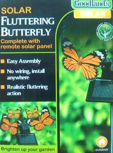 Garden SOLAR Powered Fluttering Butterfly or Dragonfly 99p each @ 99p Stores