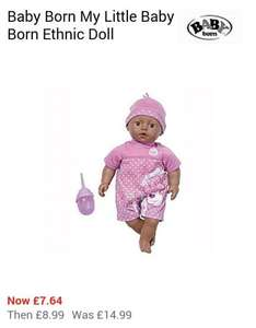 Baby BornMy Little Baby Born Ethnic Doll - £7.64 @ House of Fraser