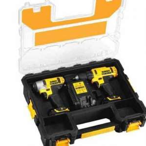 DeWalt DCZ 211 S2R 10.8v Compact Cordless Drill Driver + Impact Driver + 2 Lithium Batteries £137.49 and free next day delivery at Powertoolworld.com