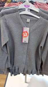 2 x tu 100% cotton grey age 5 girls school cardigans £3.00 @ Sainsbury's