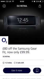 Samsung Gear Fit for £99.99 - £80 off with O2 Priority Moments