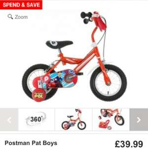 "Boys Postman Pat Boys Bike - 12"" £39.99 @ halfords"