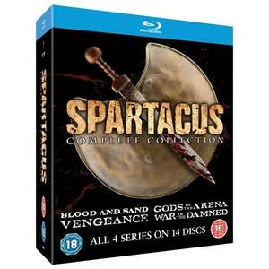 Spartacus: Complete Collection Blu Ray £26 (14 Discs) Play.com via DVD Emporium