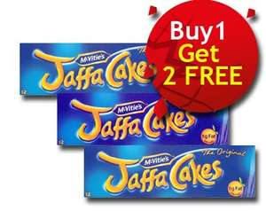McVities Jaffa Cakes 12 Pack (Buy ONE get Two FREE) ONLY £1.49 @ Nisa Locals